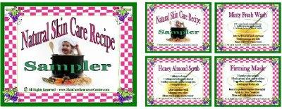 skin care recipe cards